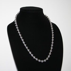 Vintage silver ball beaded necklace